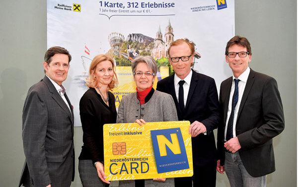 Die Niederösterreich – Card startet in ihre 12- Saison