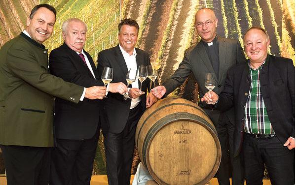 Weintaufe am Weingut Wien Cobenzl