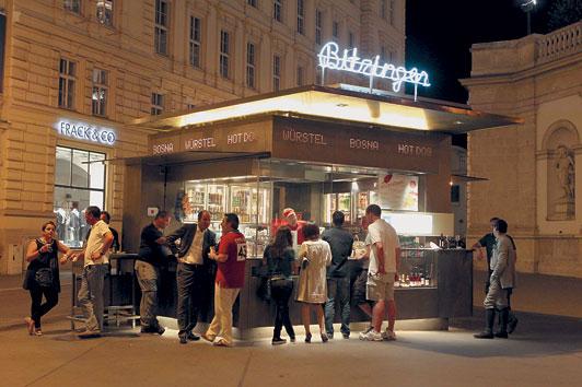 Servus in Wien on Tour  Wien bei Nacht – WÜRSTLSTÄNDE
