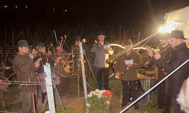 Traditionelles Buschenverbrennen im Weingut Walter