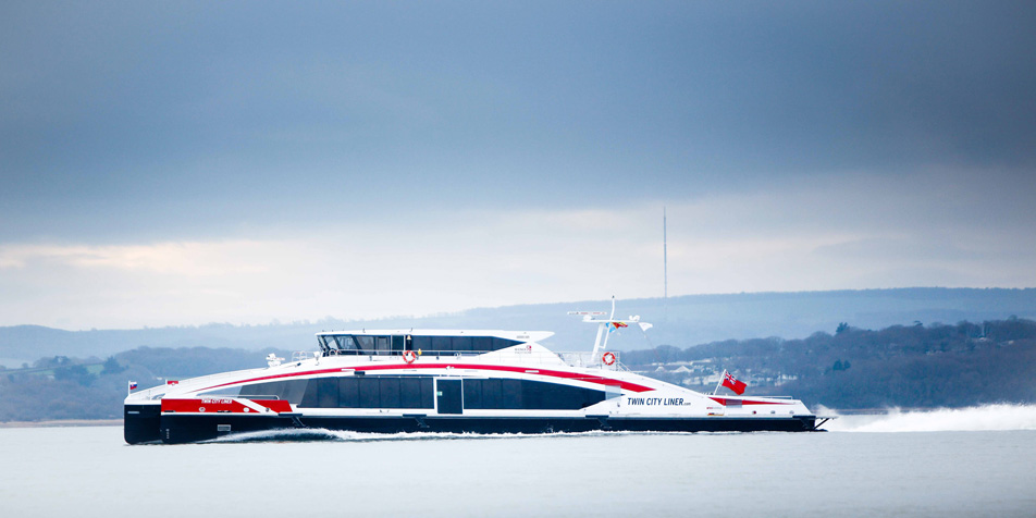 Der Twin City Liner ist bereits auf dem Weg nach Wien.