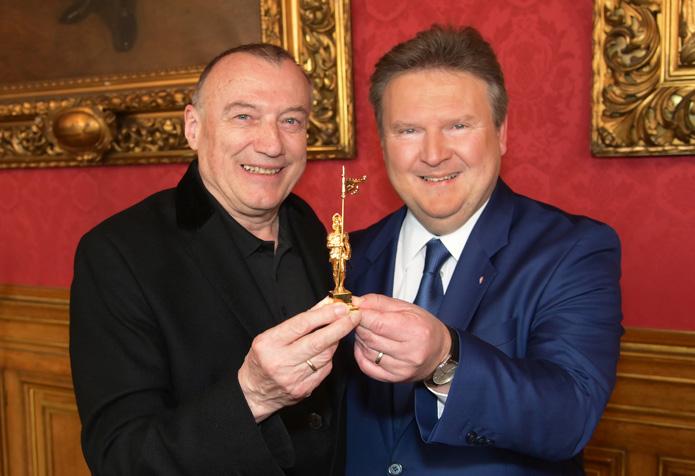 Goldener Rathausmann für ROMY-Erfinder Rudolf John